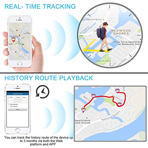 GPS Tracker Anti-thief GPS Tracking Device SMS Locator Global Real Time tracking for Car//Vehicle//Motorcycle//Bycicle//kids//wallet//documents//bags with app for iOS and Android Mini GPS Tracker