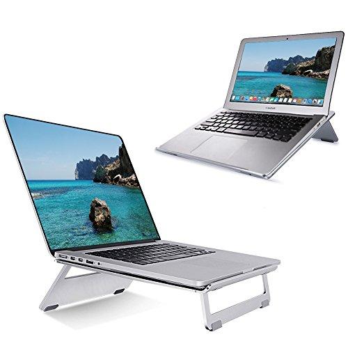portable laptopst nder mit handy halterung hizek aluminum laptop st nder und. Black Bedroom Furniture Sets. Home Design Ideas
