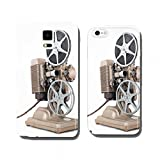 Angled view of Vintage 8 mm Movie Projector with Film Reels. cell phone cover case iPhone5