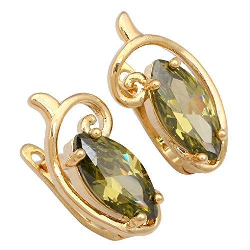 fonk: gift Stunning designer Green zircon 18k gold Peridot earrings 10