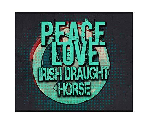 Irish Draft Horses - Makoroni - Peace Love Irish Draught Horse - Jigsaw Puzzle, 30 pcs.