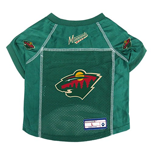 NHL Minnesota Wild Pet Jersey, Large Jersey Sporting Dogs