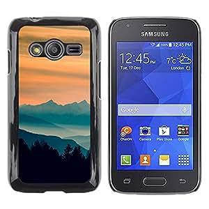iKiki Tech / Estuche rígido - Sunset Montañas - Samsung Galaxy Ace 4