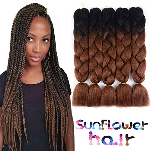 Two Tone Ombre Jumbo Braids Hair Extension 24