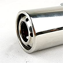 """Pinovk Universal Fits Car Stainless Steel Chrome EXHAUST Tail Muffler Tip Round Pipe Fit Pipe Diameter 1 1/4"""" TO 2 1/4''"""