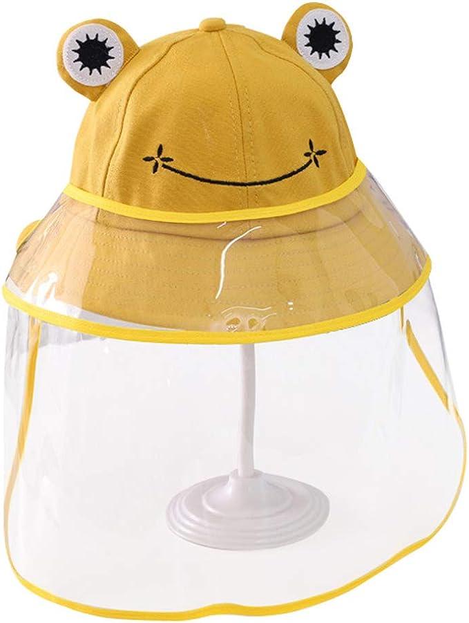 Bverionant Sombrero de Protección Sombrero Protector para Niño Sombrero de Pescador con Visera Antisalpicadura Sombrero de Sol con Protección Facial Gorro con Pantalla