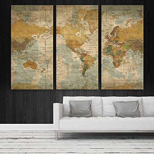 World Map Push Pin Wall Art By Sami Eymur 3 Piece Multi Panel X