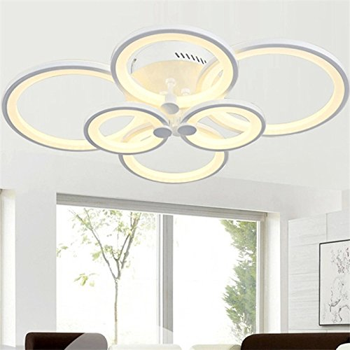 - Chandelier Modern Acrylic Lighting Flush Mount LED Ceiling Light Fixture Lamp 6 Heads for Dining Room Bathroom Bedroom Livingroom by LightInTheBox (Warm White)