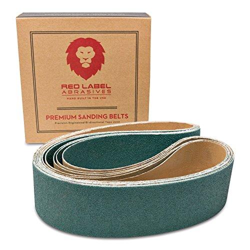 (2 X 36 Inch 80 Grit Metal Grinding Zirconia Sanding Belts, 6 Pack)