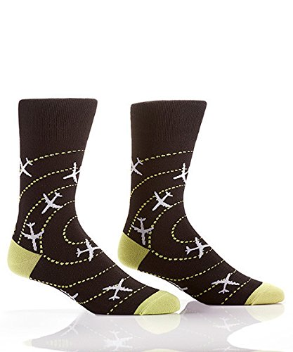 Yo Sox Perfect Landing Funky Men's Crew Socks for Dress Casual Wear Size 7-12 by Yo Sox (Image #2)