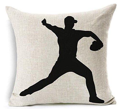 Baseball Club Community Team Athlete Lovers Gift Cotton Linen Throw Pillow Case Cushion Cover Home Sofa balcony Decorative 18 X 18  (4)