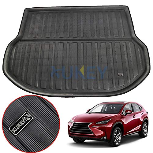 XUKEY for Lexus NX NX200T NX300H NX300 2015-2018 Cargo Liner Boot Rear Trunk Mat Tray Floor Carpet Luggage Tray Mud Kick Pad Tailored