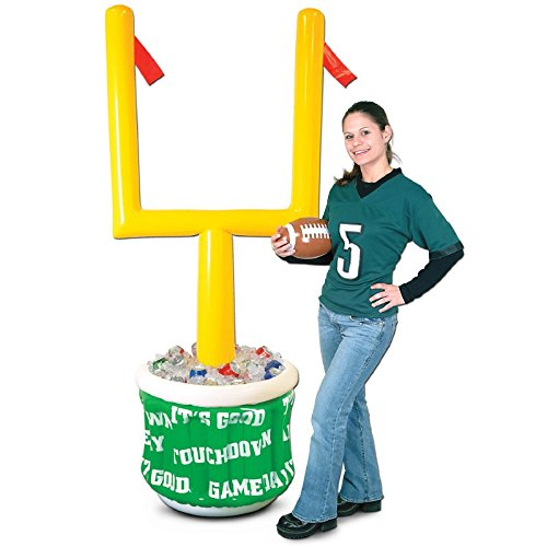 Party Central Inflatable Football Game Day Goal Post Cooler w/Football 74