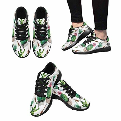 Scarpa Da Jogging Leggera Da Donna Running Running Leggera Easy Go Walking Comfort Sport Scarpe Da Corsa Disegnata A Mano Cactus Multi 1