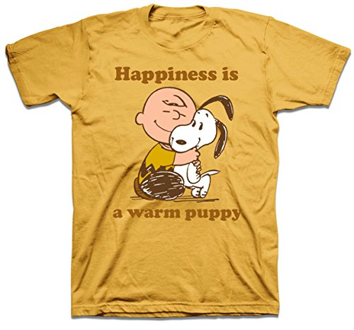 Men's Peanuts Charlie Brown Warm Puppy T-shirt. S to XXL