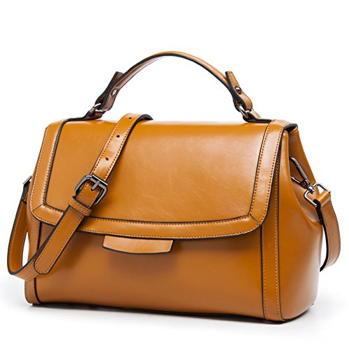 Brown Ladies Gmyan Single Retro Shoulder Handbag Simple Satchel Fashions Leisure New vOvBqgx