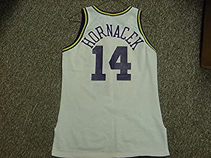 quality design 48c1a 681a7 Jeff Hornacek Utah Jazz 1990-1996 Champion White Game Jersey ...