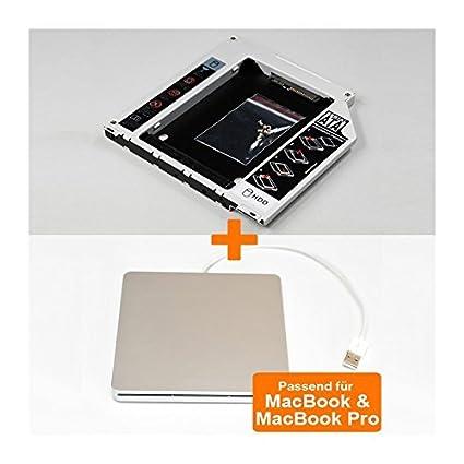 one38 - 2nd SATA HDD / SSD portadora HDD Caddy y caja externa USB ...