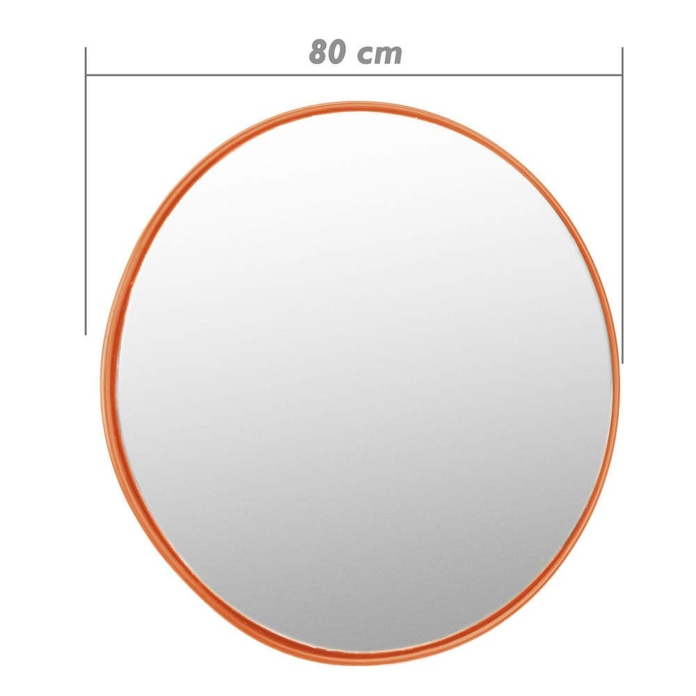 PrimeMatik - Convex mirror safety security surveillance 80cm orange PrimeMatik.com