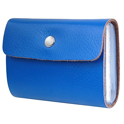 Credit Blue Clear 26 with Card Faux TRIXES Holder Leather Soft Sleeves Wallet xS5vqI