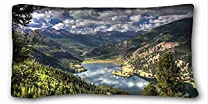 Custom Characteristic Nature Custom Cotton & Polyester Soft Rectangle Pillow Case Cover 20x36 inches (One Side) suitable for California King-bed