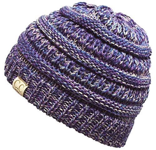 H-3847-816.40 Kids Beanie (NO POM) - Purple #2 -
