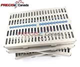 PRECISE CANADA: GERMAN GRADE STEEL SET OF 5 EACH DENTAL AUTOCLAVE STERILIZATION CASSETTE RACK BOX TRAY FOR 20 INSTRUMENT NEW