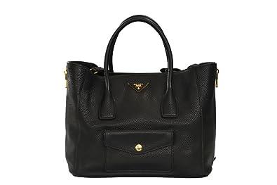 gebraucht - Tasche - Damen - Schwarz - Leder Prada OwXtLc