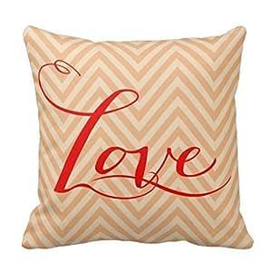Kieffer shop Orange ripple 18*18 inch cotton pillowcase
