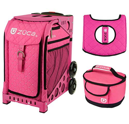 - Zuca Sport Bag - Pink Hot with Gift Hot Pink/Black Seat Cover and Pink Lunchbox(Pink Frame)