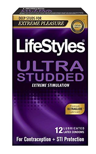 LifeStyles Ultra Studded Condoms, 6.8 Ounce