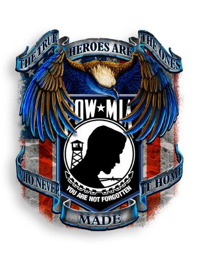 SET OF 2 POW MIA True Heroes Never Made It Home 2 Inch Reflective - Mia Pow Decal