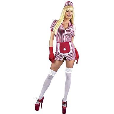 Amazon.com: Sexy disfraz de enfermera cierre doble Candy ...