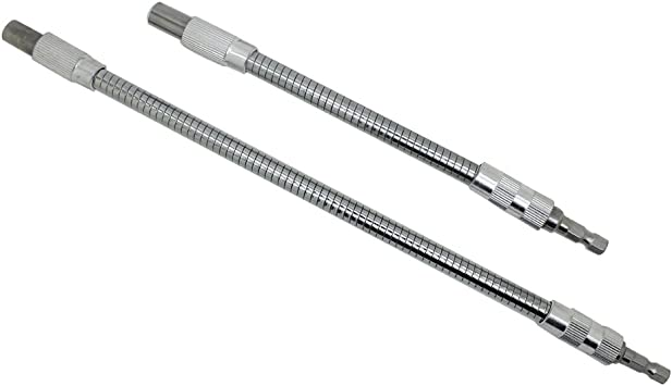 """Right Angle 1//4/"""" Head Screw Driver Flexible Angle Extension Bit Tool Replacement"""