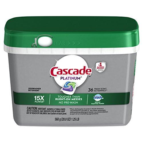 Cascade Platinum ActionPacs Dishwasher Detergent, Fresh Scent,20 oz