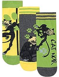 Miraculous Boys' Cat Noir Socks Pack of 3