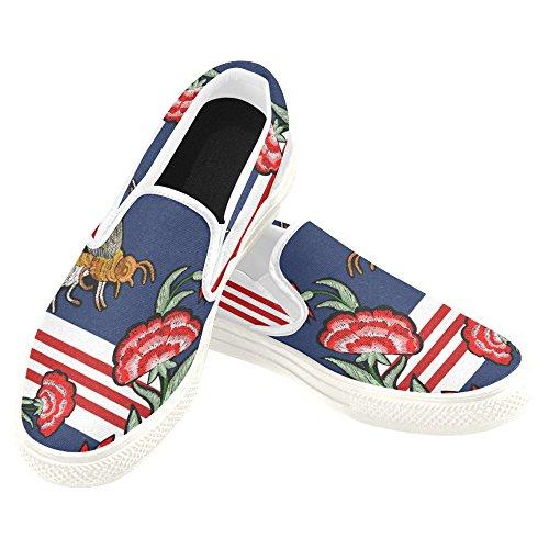 D-story Anpassade Sneaker Kvinna Slip-on Tygskor Mullticolored4
