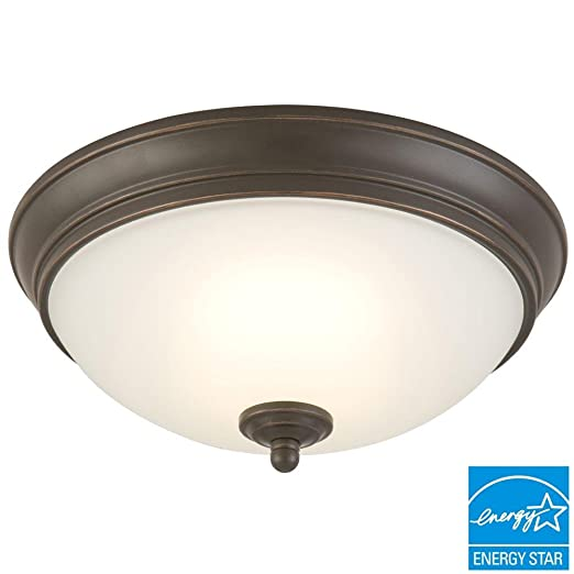 pretty nice 9b3d3 c9078 Commercial Electric Oil Rubbed Bronze LED Energy Star Flushmount