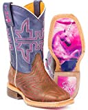 Tin Haul Shoes Girls' Starlight Western Boot, Brown, 13 Medium US Little Kid