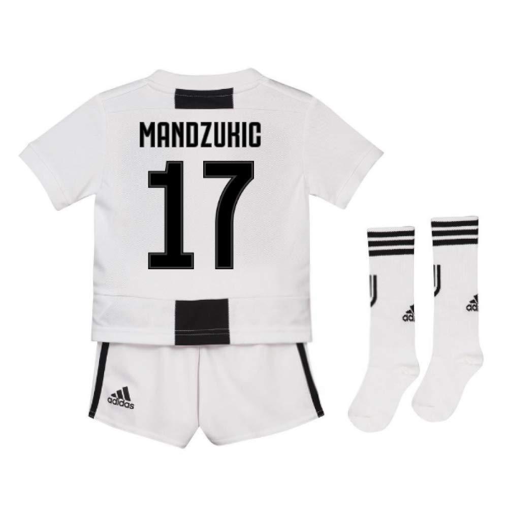UKSoccershop 2018-19 Juventus Home Mini Kit (Mario Mandzukic 17)