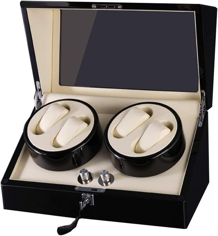 ワインディングマシーン ウォッチワインダー, 静音設計 5回転モード, 4+6 腕時計収納ボックス