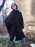 Womens black oversized coat cardigan,Navy loose coat, Shawl collar cardigan,Lagenlook Spring Cardigan,Asymmetrical Blanket Coat, Cape Coat