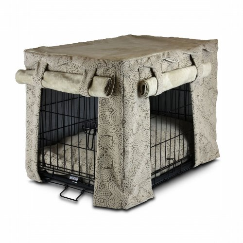Snoozer Cabana Pet Crate Cover with Pillow Dog Bed, Medium,