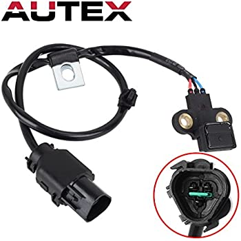 AUTEX Crankshaft Position Sensor PC530 5S1777 1800446 3931039010 SU5877 compatible with 2002 2003 2004 2005 Kia Sedona V6-3.5L 2001 Hyundai XG300 V6-3.0L ...