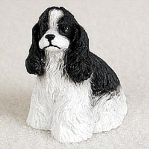 Black Cocker Figurine Spaniel (Conversation Concepts Cocker Spaniel Black & White Tiny One Figurine)