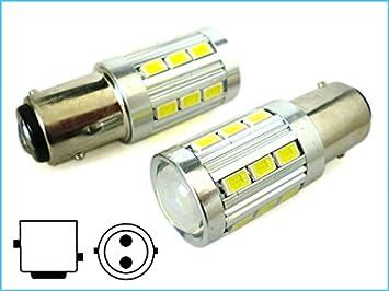 bombillas Led BAY15D 1157 P21/5W 21 Smd 5730 COLORA BLANCO Alta Potencia PARA LUCES POSICION Y STOP COCHE 12V: Amazon.es: Electrónica