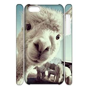 Customized Hard Back 3D Case Cover for iPhone 5C with Unique Design Alpaca