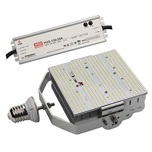 Kit 480 - 480V 120W LED Shoebox Retrofit Kit Replace 400Watt Metal Halide Parking Lot Light, 5700K Daylight E39 480volt High Bay Retrofit Kit Street Gas Station Lighting, AC185-528V