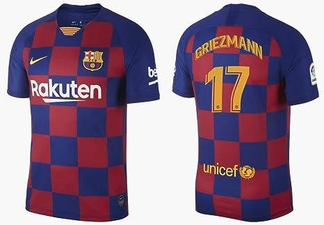 F.C. Barcelona Camiseta de Hombre 2019-2020 Home la Liga - Griezmann 17, Small: Amazon.es: Deportes y aire libre