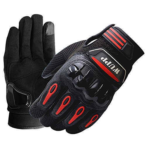 TechCode Cycling Gloves, Waterproof Windproof Touchscreen Touch Screen Full Finger Gloves Cover for Motorcycle Cycling Climbing Hiking Hunting Unisex Full Finger Protective Gloves- Size XL